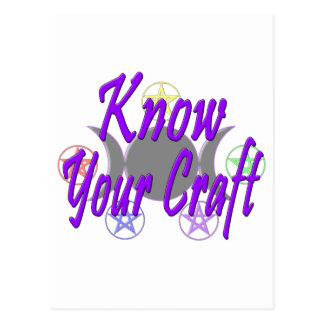 Know Your Craft Postcard