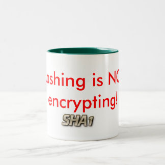 Know your cryptography terms Two-Tone coffee mug