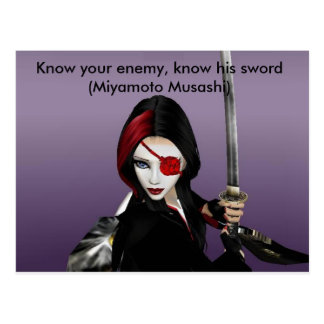 Know your enemy postcard