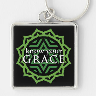 """""""Know Your Grace"""" Heart Chakra Keychain"""