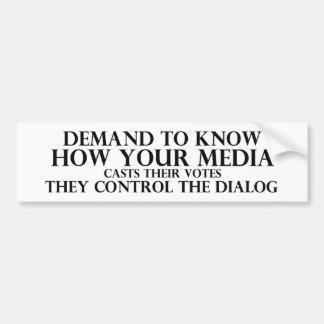Know Your Media Bumper Sticker