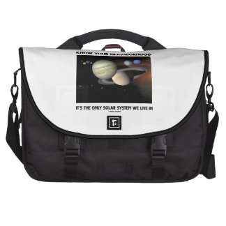 Know Your Neighborhood It's The Only Solar System Laptop Bags