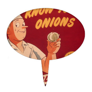 Know your onions cake topper