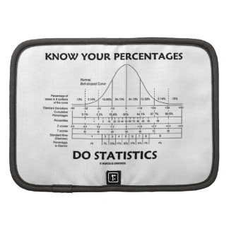 Know Your Percentages Do Statistics (Stats Humor) Folio Planners