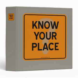 KNOW YOUR PLACE? BINDER