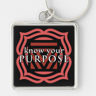 """""""Know Your Purpose"""" Root Chakra Keychain"""