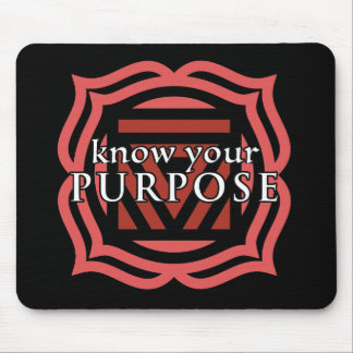 """""""Know Your Purpose"""" Root Chakra Mousepad"""