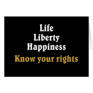 Know your rights 2 greeting card