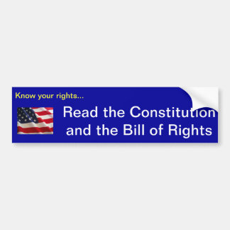 Know your rights... bumper sticker