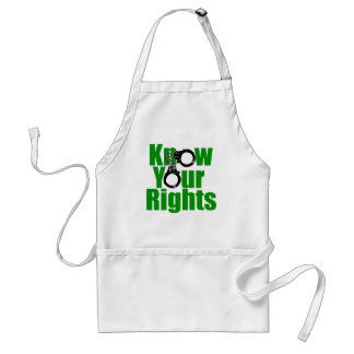 KNOW YOUR RIGHTS - police state/prison/drug war Adult Apron