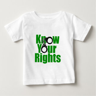 KNOW YOUR RIGHTS - police state/prison/drug war Baby T-Shirt