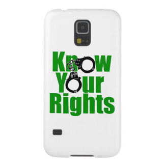 KNOW YOUR RIGHTS - police state/prison/drug war Case For Galaxy S5