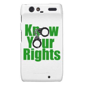KNOW YOUR RIGHTS - police state/prison/drug war Motorola Droid RAZR Case