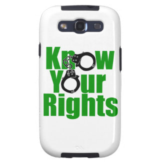 KNOW YOUR RIGHTS - police state/prison/drug war Galaxy S3 Cases