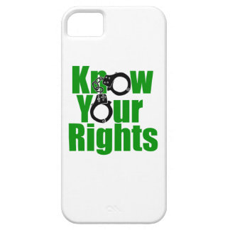 KNOW YOUR RIGHTS - police state/prison/drug war iPhone 5 Covers