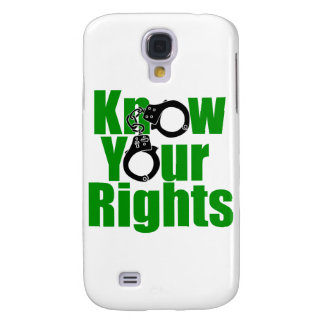 KNOW YOUR RIGHTS - police state/prison/drug war Galaxy S4 Covers