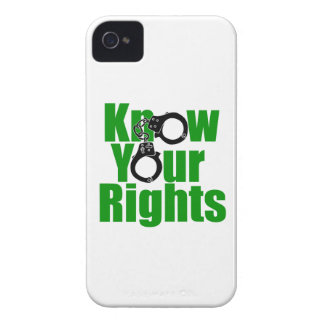 KNOW YOUR RIGHTS - police state/prison/drug war iPhone 4 Case