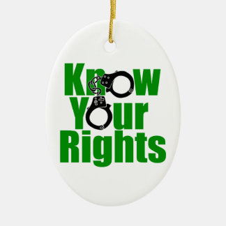 KNOW YOUR RIGHTS - police state/prison/drug war Ceramic Ornament