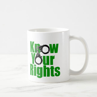 KNOW YOUR RIGHTS - police state/prison/drug war Coffee Mug