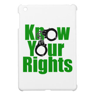 KNOW YOUR RIGHTS - police state/prison/drug war iPad Mini Case