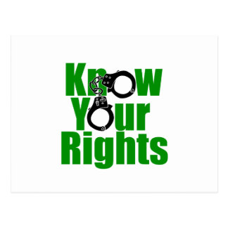 KNOW YOUR RIGHTS - police state/prison/drug war Postcard