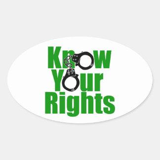 KNOW YOUR RIGHTS - police state prison drug war Sticker