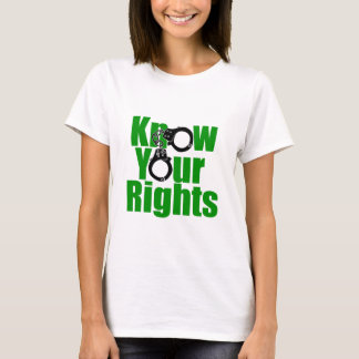 KNOW YOUR RIGHTS - police state/prison/drug war T-Shirt