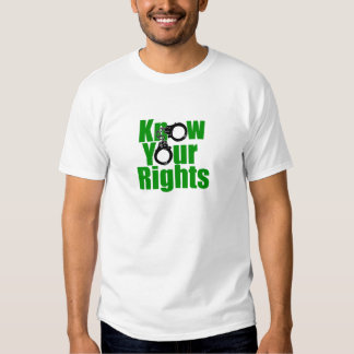 KNOW YOUR RIGHTS - police state/prison/drug war Tee Shirt