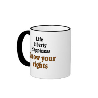 Know your rights ringer mug
