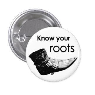 Know your roots pin redondo de 1 pulgada