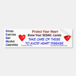 Know your SEDAC levels Bumper Sticker