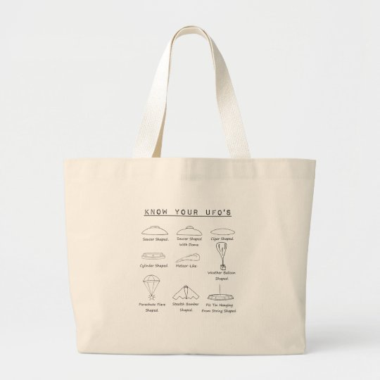 Know Your UFO's collection Large Tote Bag