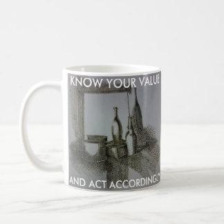 Know your value coffee mug