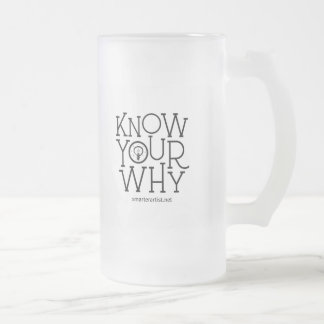 Know Your Why Smarter Artist Beer Mug
