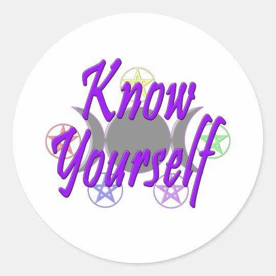 Know Yourself Classic Round Sticker