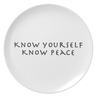 Know Yourself Know Peace Plate