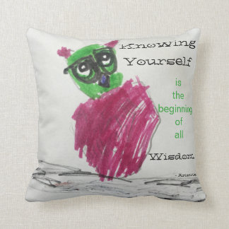 Know Yourself Owl Pillow