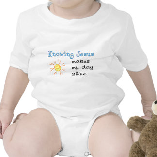 Knowing Jesus makes my day shine Rompers