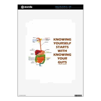 Knowing Yourself Starts With Knowing Your Guts iPad 2 Decal