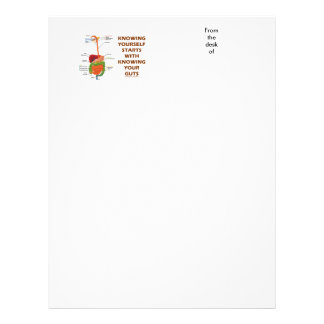 Knowing Yourself Starts With Knowing Your Guts Letterhead