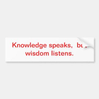 knowledge bumper sticker