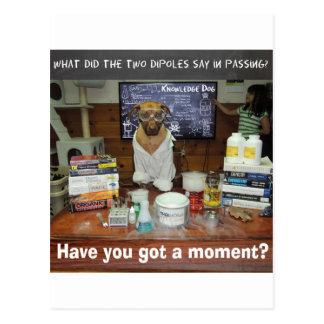 Knowledge Dog Dipole Moment Postcard
