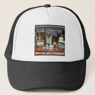 Knowledge Dog Dipole Moment Trucker Hat