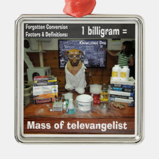 Knowledge Dog Forgotten Conversions Biligram Metal Ornament