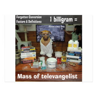 Knowledge Dog Forgotten Conversions Biligram Postcard