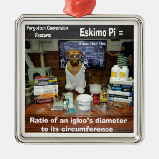 Knowledge Dog Forgotten Conversions Eskimo Pi Metal Ornament