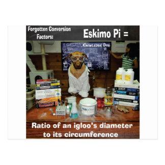 Knowledge Dog Forgotten Conversions Eskimo Pi Postcard