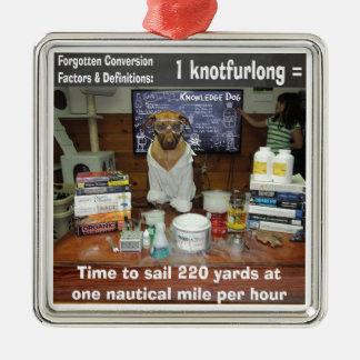 Knowledge Dog Forgotten Conversions Knotfurlong Metal Ornament