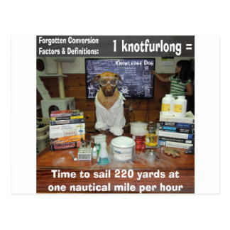 Knowledge Dog Forgotten Conversions Knotfurlong Postcard