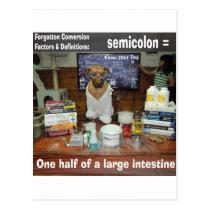 Knowledge Dog Forgotten Conversions Semicolon Postcard
